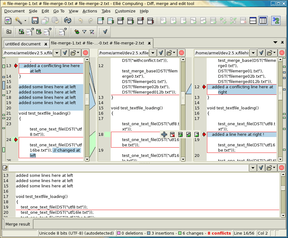 ECMerge Pro (Solaris) full screenshot